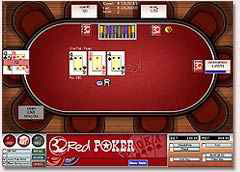 32 Red Poker Table